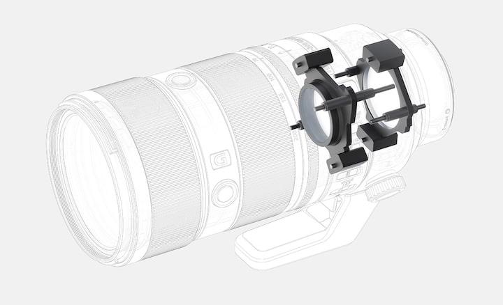 Ilustração de quatro motores lineares XD