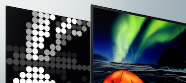 Imagens em ecrã com contraste extremo e profundidade realista