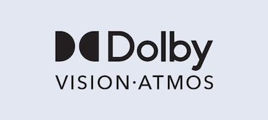 Logótipo Dolby Vision® e Dolby Atmos®