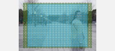 Uma ilustração da cobertura de 84% dos pontos AF de deteção de fases