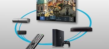 Imagem de dispositivos ligados controlados por Smart Remote