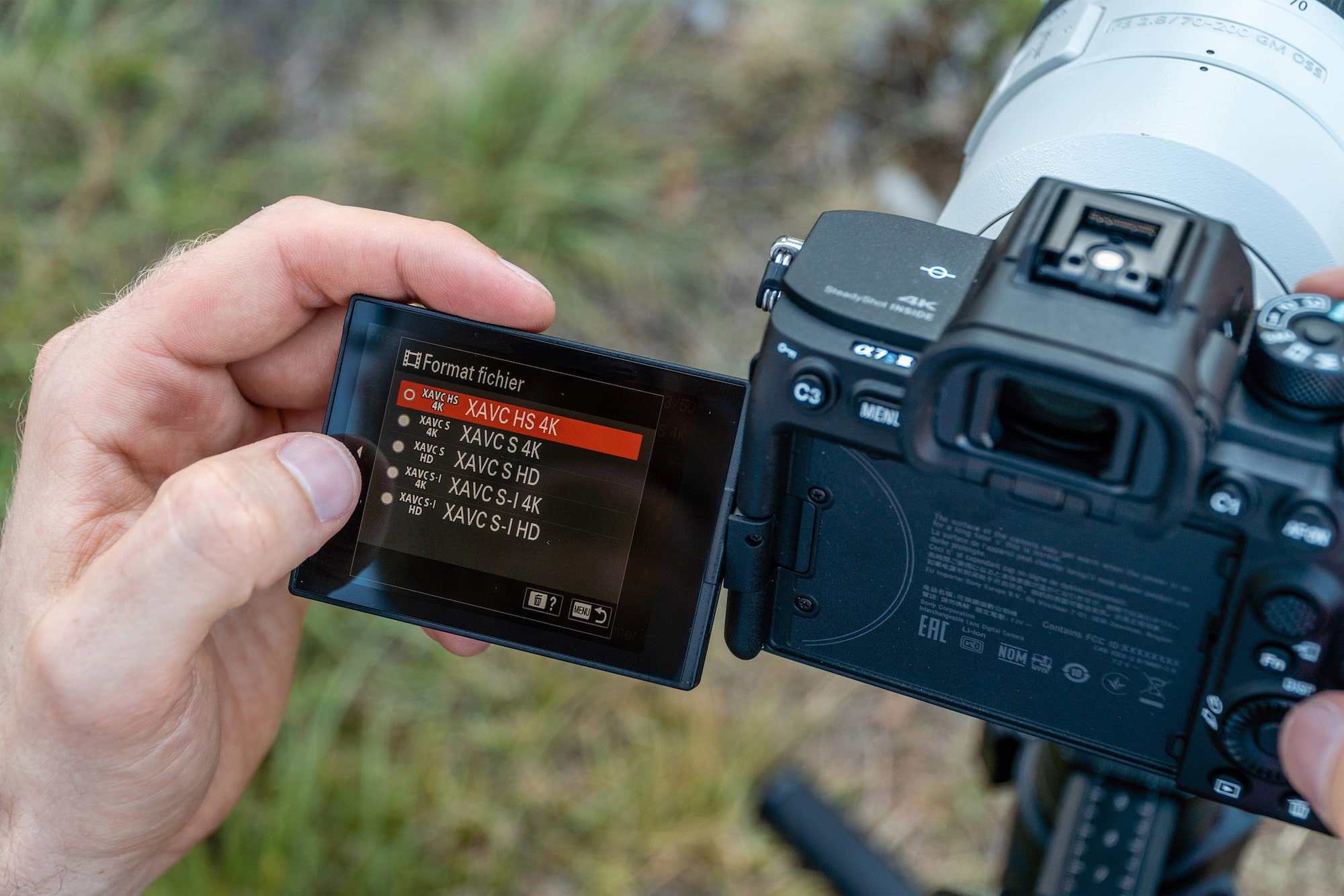 olivier schmitt sony alpha 6400 selecting the video settings on an alpha camera using the touchscreen