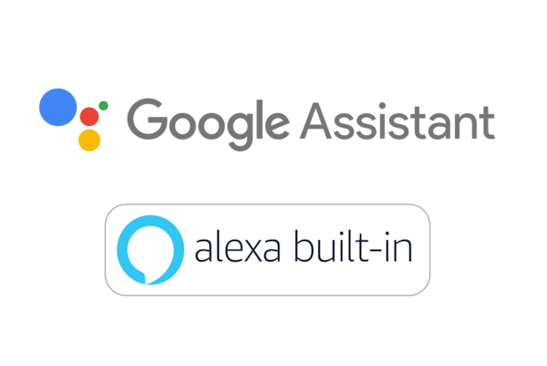 Logótipos Assistente Google e Amazon Alexa