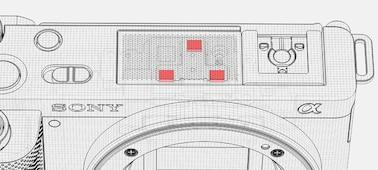 Uma ilustração do microfone direcional de três cápsulas da ZV-E10