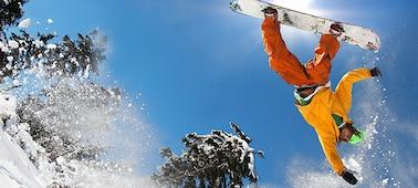 Imagem de snowboarder com detalhe sem desfocagem com LED XR X-Motion Clarity™