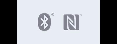 Ícones de Bluetooth® e NFC do DSX-A410B